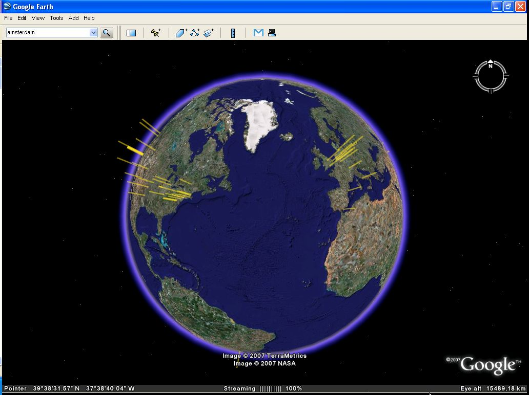 Google Earth for Mac OS X full screenshot