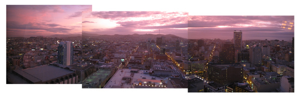 San Francisco from the roof of the Marriot Hotel, click image for full size